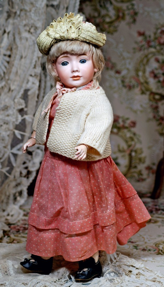 "RARE ""WENDY"" MODEL 2033, BISQUE CHARACTER DOLL BY BRUNO - 3"
