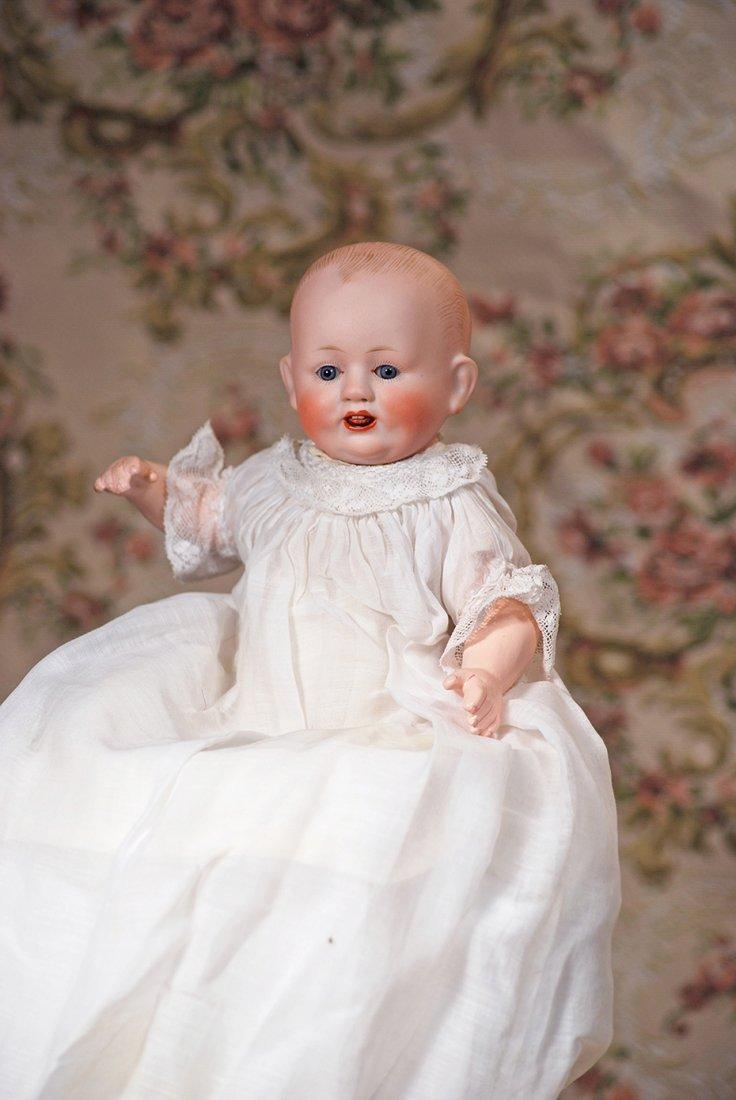 PETITE GERMAN BISQUE CHARACTER BABY BY FRANZ SCHMIDT