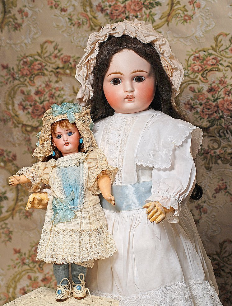 LARGE SONNEBERG BISQUE BELTON-TYPE DOLL FOR THE FRENCH