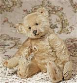 EARLY MOHAIR STEIFF BEAR WITH PEWTER BUTTON