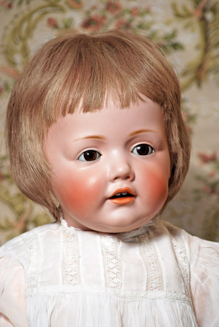 VERY LARGE GERMAN BISQUE HILDA BABY BY KESTNER - 2