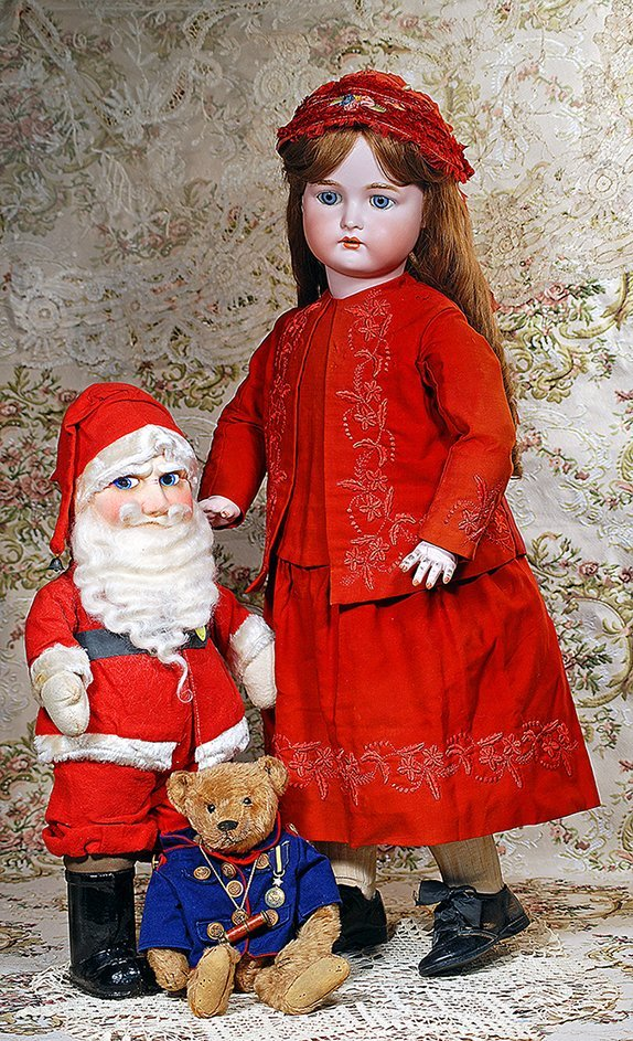 LARGE SANTA CLAUS WITH MASK-PRESSED FACE AND MUSICAL