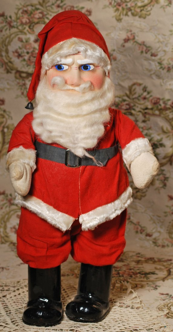 LARGE SANTA CLAUS WITH MASK-PRESSED FACE AND MUSICAL - 2