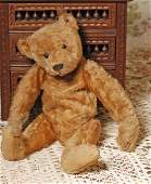 EARLY MOHAIR STEIFF TEDDY BEAR WITH BLANK EAR BUTTON