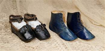 TWO PAIR OF ANTIQUE DOLL SHOES