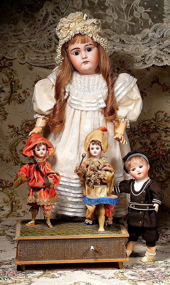 """GERMAN HAND-WIND MECHANICAL TOY """"THE LITTLE MUSICIANS"""""""
