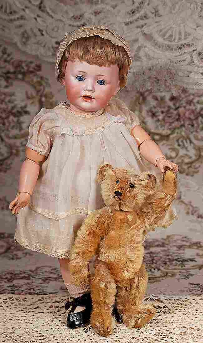 EARLY STEIFF TEDDY BEAR WITH PEWTER BUTTON