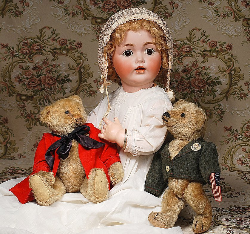 TWO EARLY GERMAN MOHAIR TEDDY BEARS