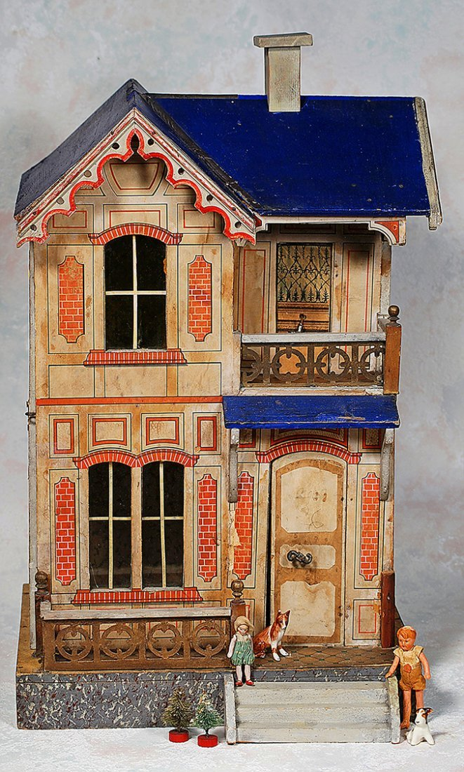 GOTTSCHALK, BLUE-ROOFED DOLL VILLA FOR THE FRENCH
