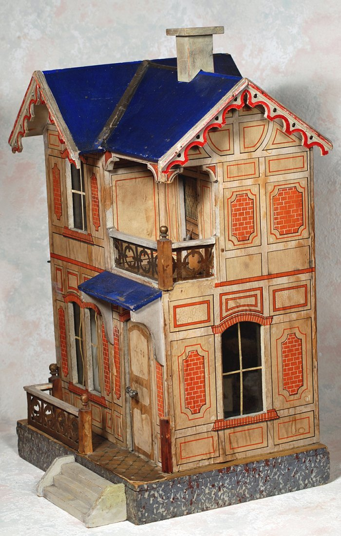 GOTTSCHALK, BLUE-ROOFED DOLL VILLA FOR THE FRENCH - 2