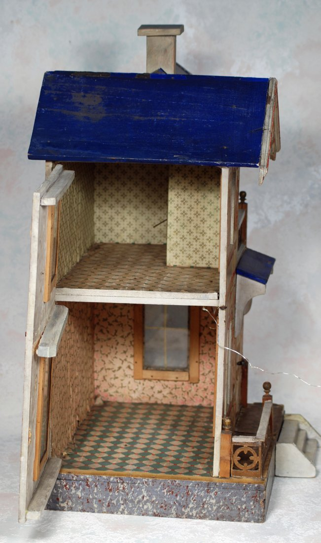 GOTTSCHALK, BLUE-ROOFED DOLL VILLA FOR THE FRENCH - 3