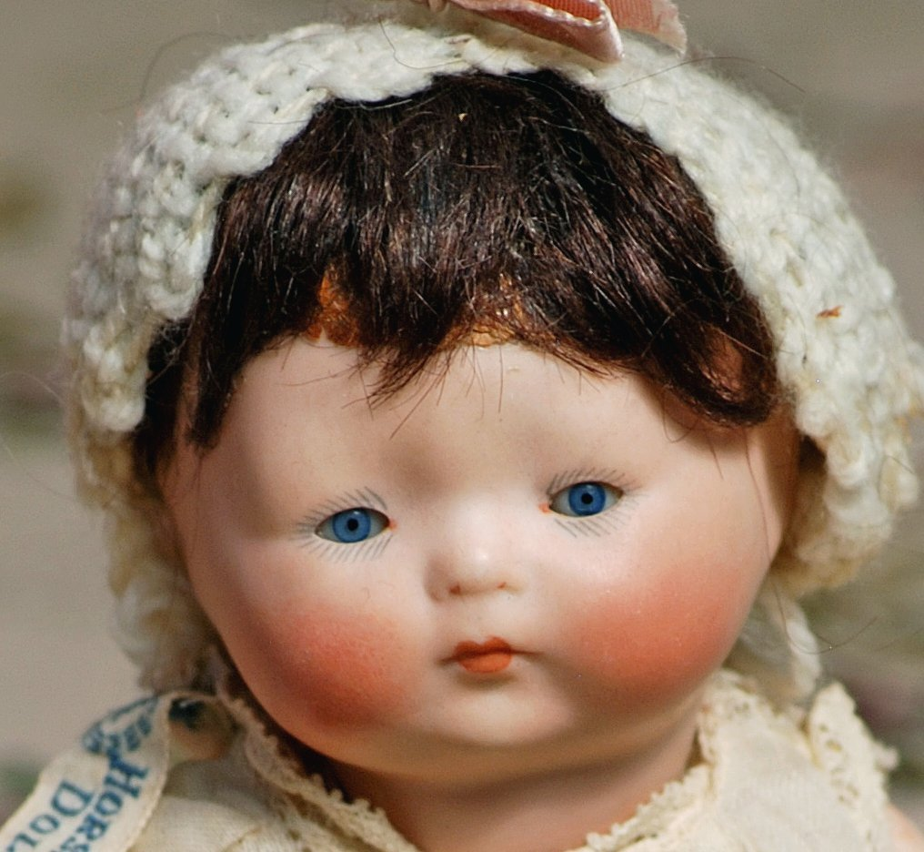 """GERMAN ALL-BISQUE """"TYNIE BABY"""" IN ORIGINAL DRESS BY - 2"""