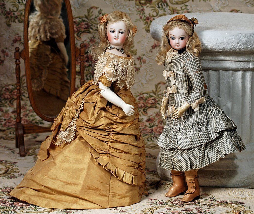 FRENCH BISQUE POUPEE BY JUMEAU IN ORIGINAL COSTUME