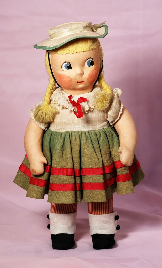 "MADAME ALEXANDER EARLY CLOTH DOLL ""SUSIE Q"""