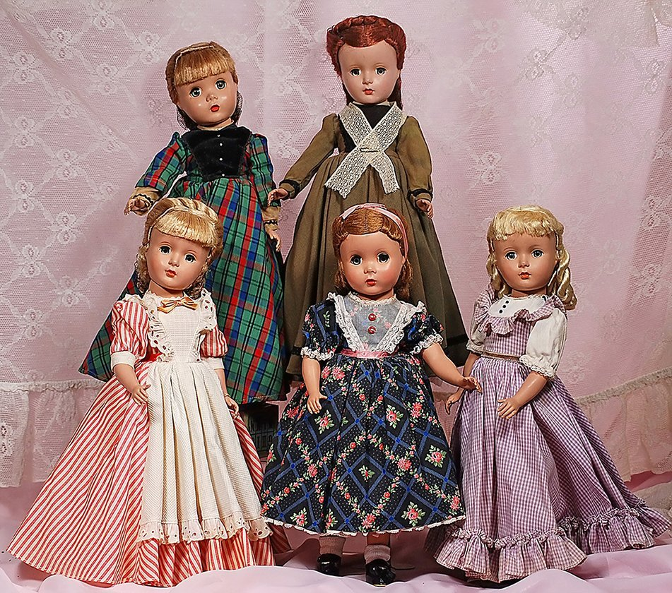 COMPLETE SET OF ALEXANDER LITTLE WOMEN DOLLS