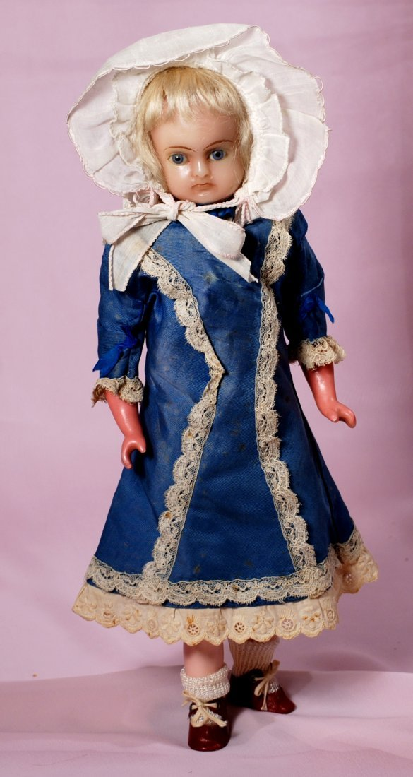 GERMAN WAX-OVER-COMPOSITION DOLL