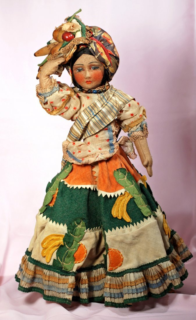 ALL-ORIGINAL CLOTH SALON-TYPE DOLL FROM BRAZIL