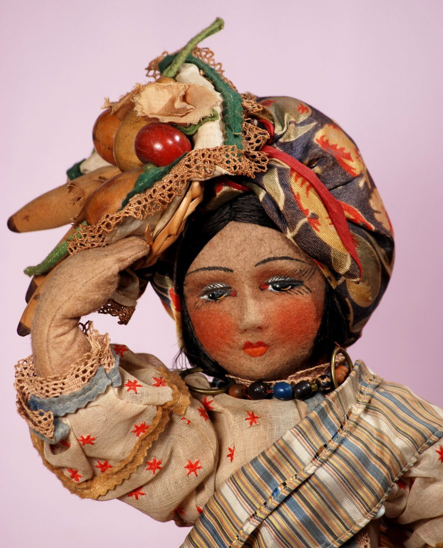 ALL-ORIGINAL CLOTH SALON-TYPE DOLL FROM BRAZIL - 2