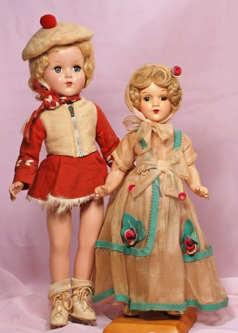 TWO ALL-ORIGINAL DOLLS, ARRANBEE COMPOSITION DOLL &