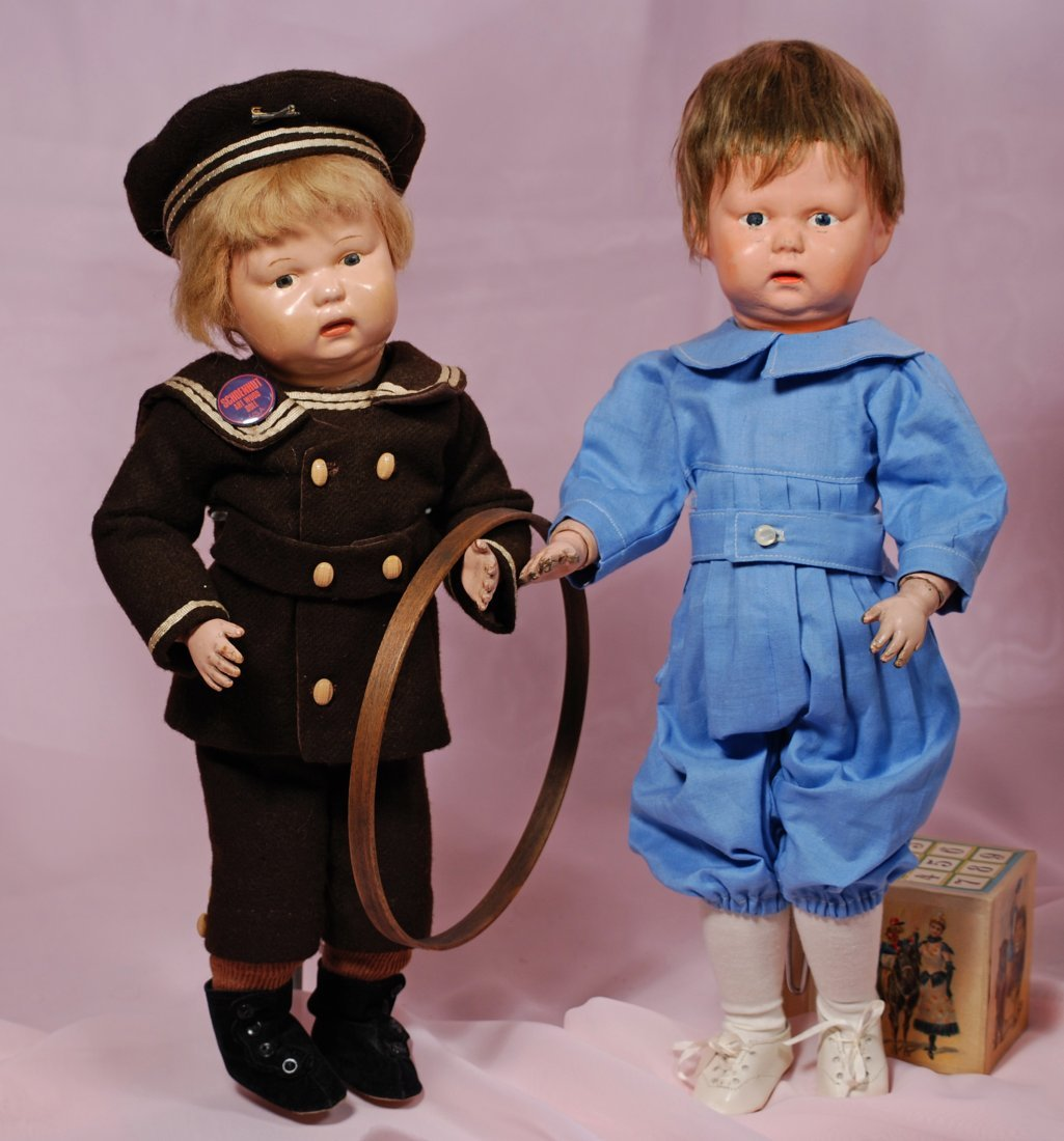 TWO SCHOENHUT BABY-FACE TODDLERS