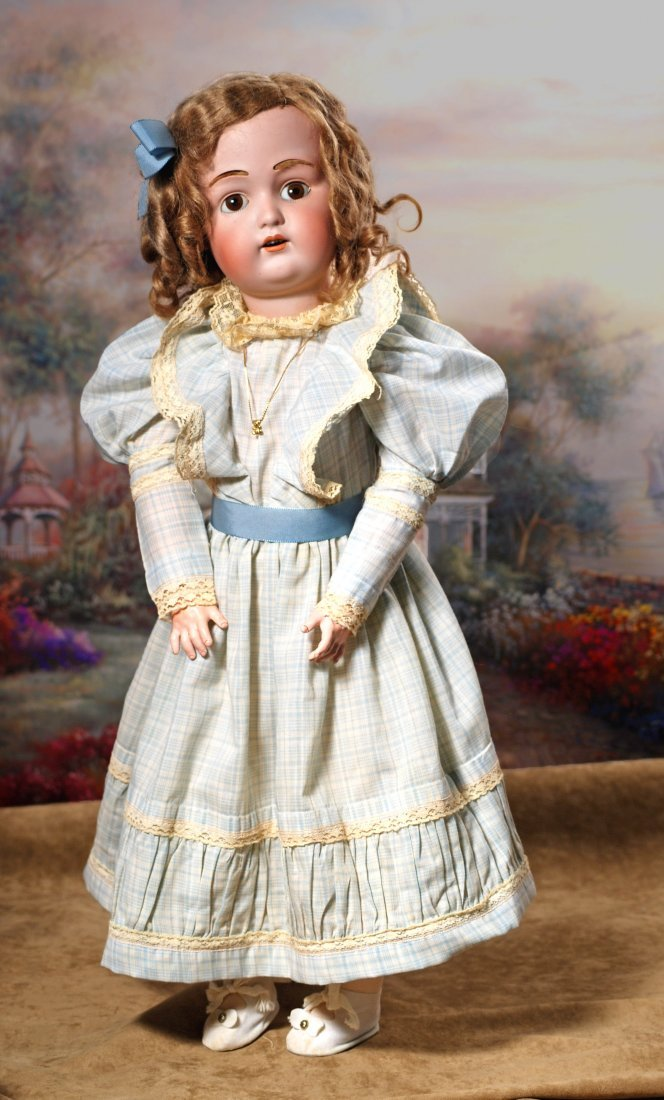 GERMAN BISQUE KESTNER, JDK 211, DOLL WITH ORIGINAL WIG.