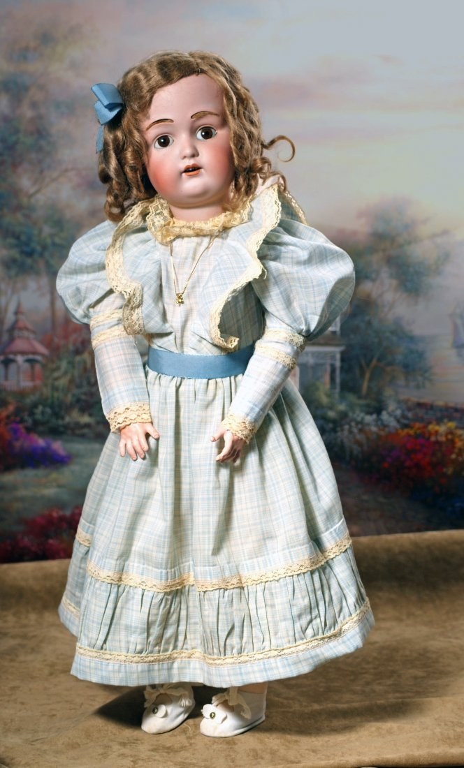 GERMAN BISQUE KESTNER, JDK 211, DOLL WITH ORIGINAL WIG. - 2