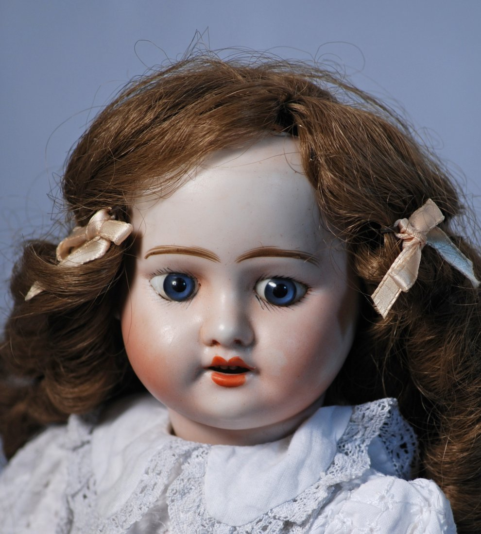 FRENCH BISQUE DOLL BY MYSTERY MAKER.