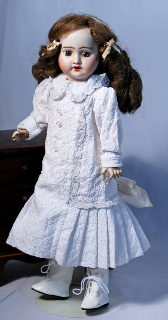 FRENCH BISQUE DOLL BY MYSTERY MAKER. - 2