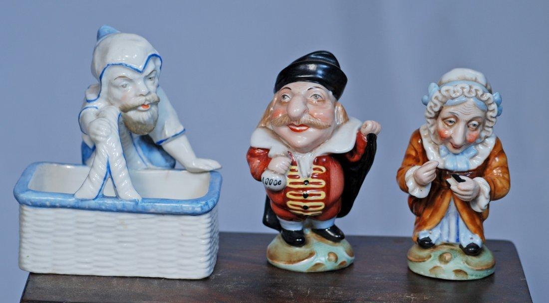 THREE GERMAN PORCELAIN DRESDEN FIGURES