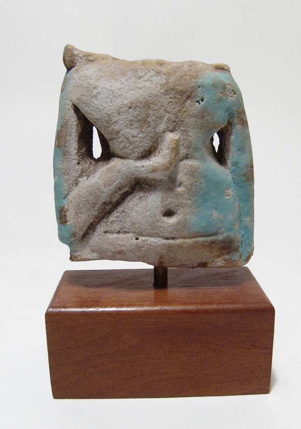 Egyptian faience torso from a concubine figure
