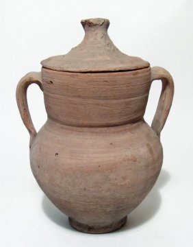 An Apulian Amphora With Large Straining Sieve And Lid