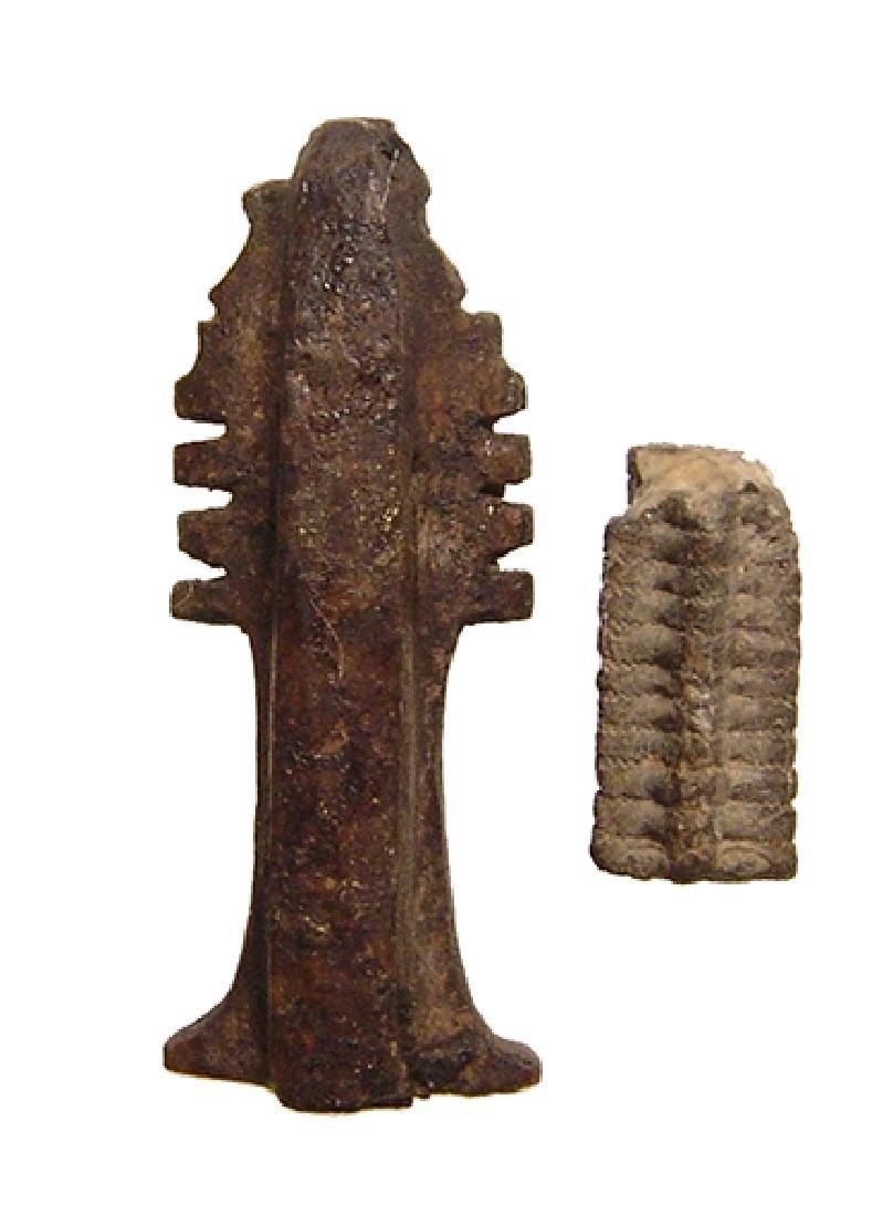 An Egyptian stone amulet of the Djed column of Osiris - 2