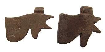 Nice pair of hematite Eye of Horus amulets