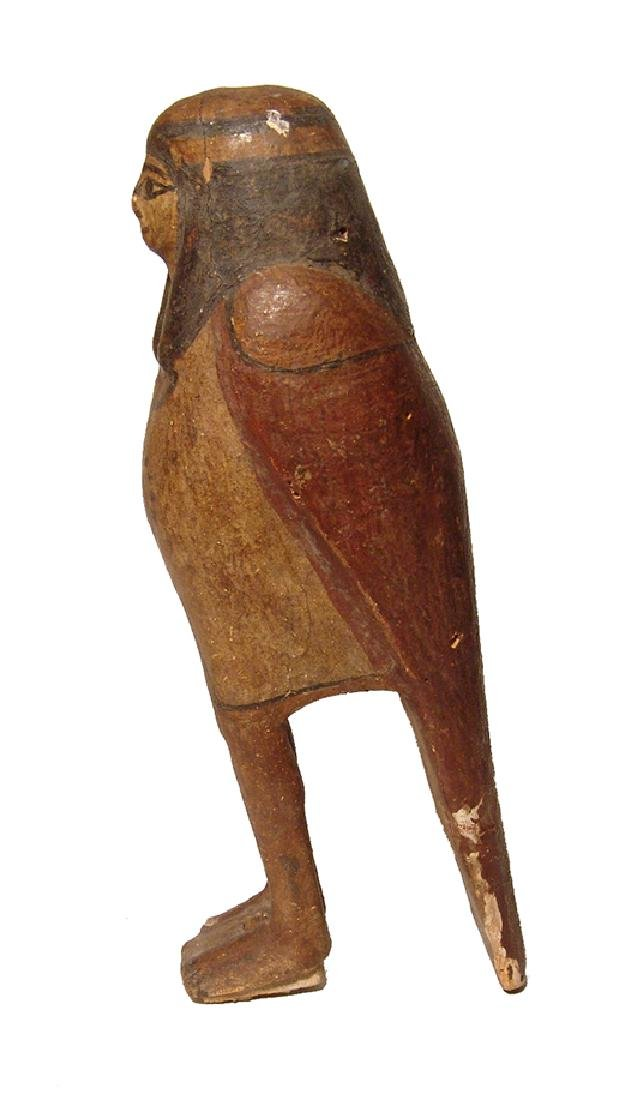 Handsome Egyptian wooden Ba bird, Late Period - 2