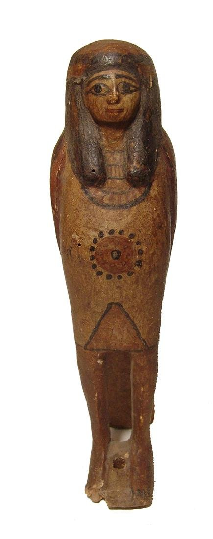 Handsome Egyptian wooden Ba bird, Late Period - 3