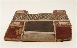 Egyptian painted wood lid for a PtahSokarOsiris base
