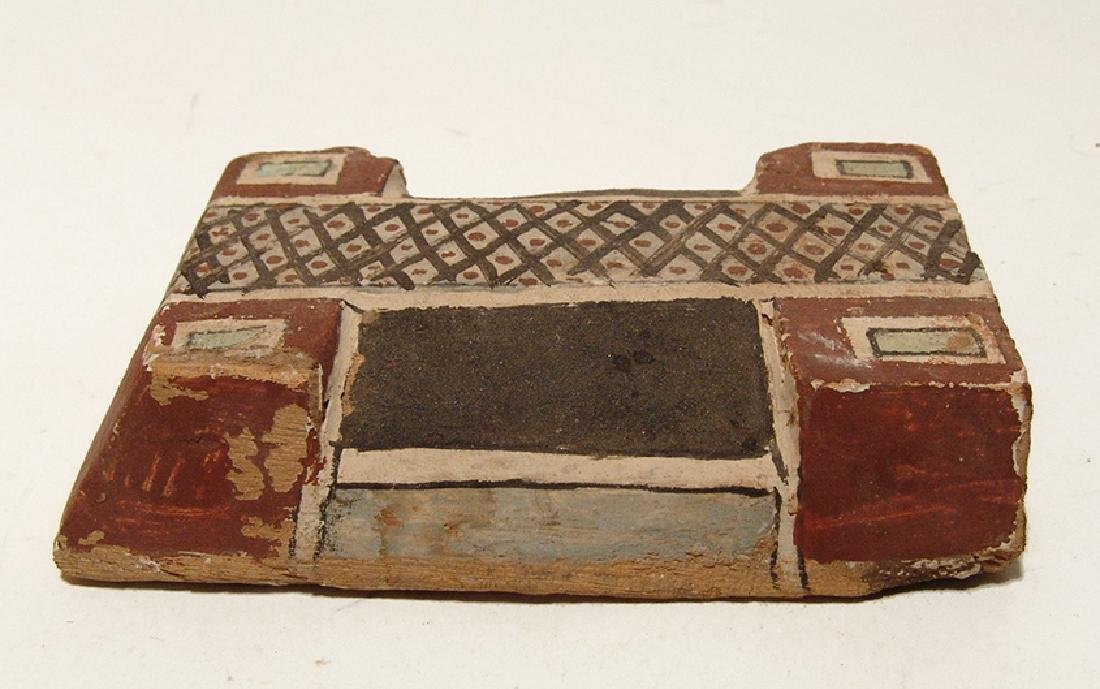 Egyptian painted wood lid for a Ptah-Sokar-Osiris base