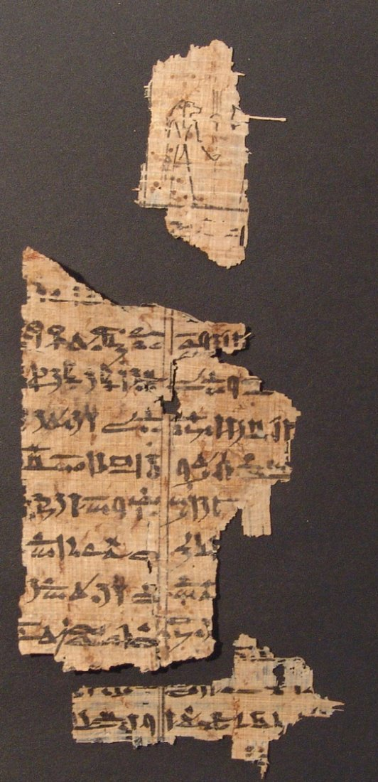 Great set of 8 Book of the Dead papyrus fragments - 3