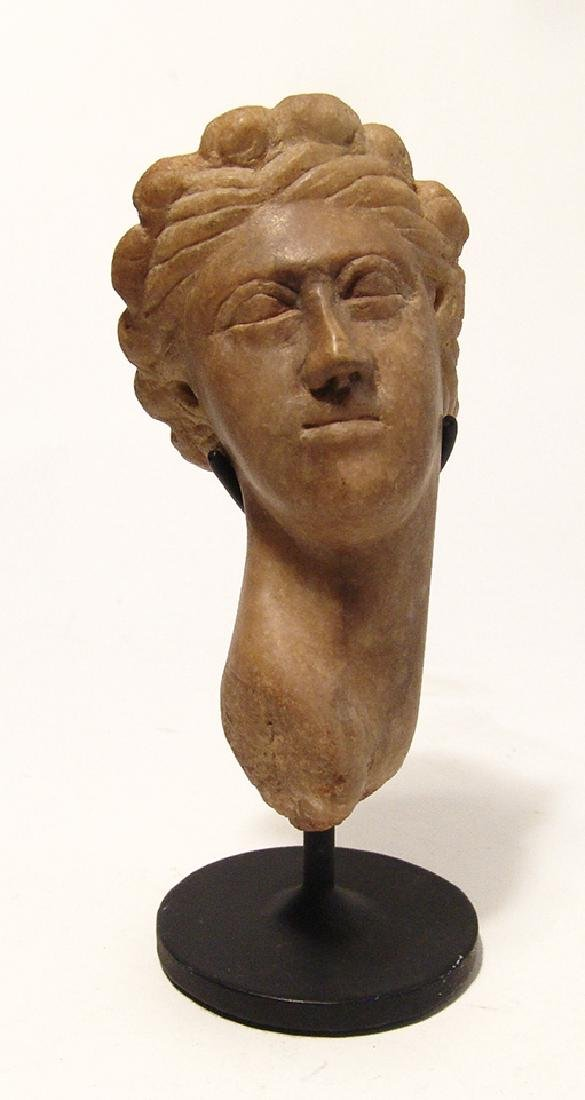 A lovely Roman marble head of Aphrodite