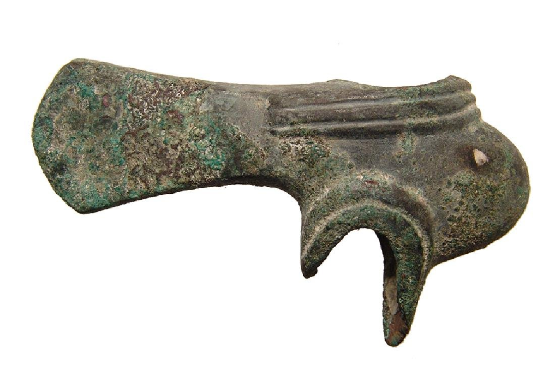 An attractive Near Eastern bronze axe head