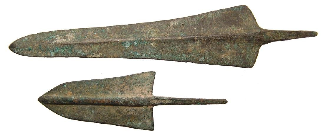 A pair of Near Eastern bronze points