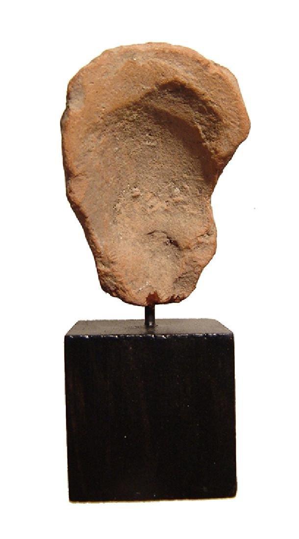 A Greek terracotta female head - 3