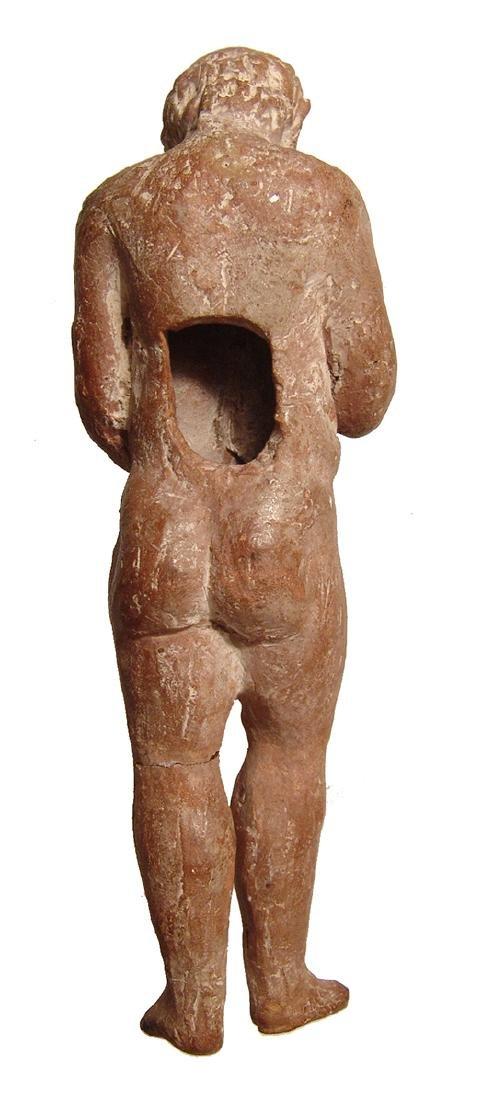 A fantastic Greek terracotta figurine of an elderly - 5