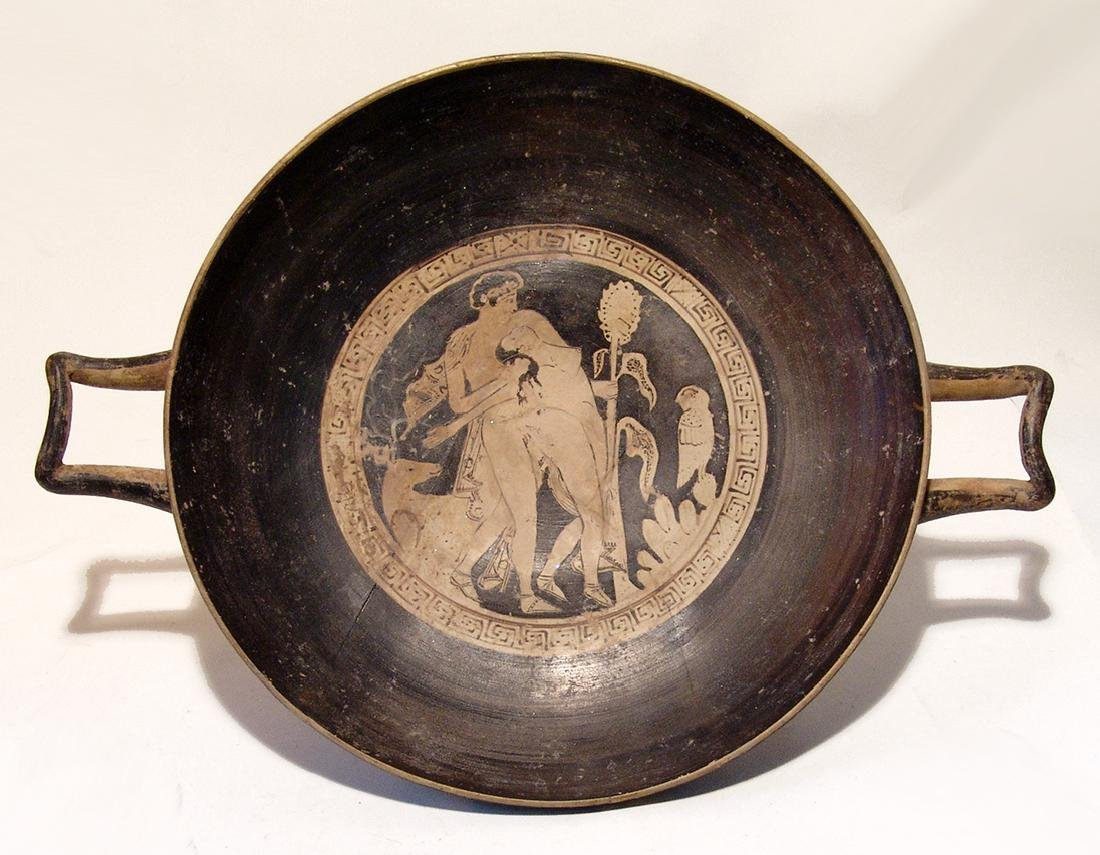 A fantastic Etruscan red-figure kylix