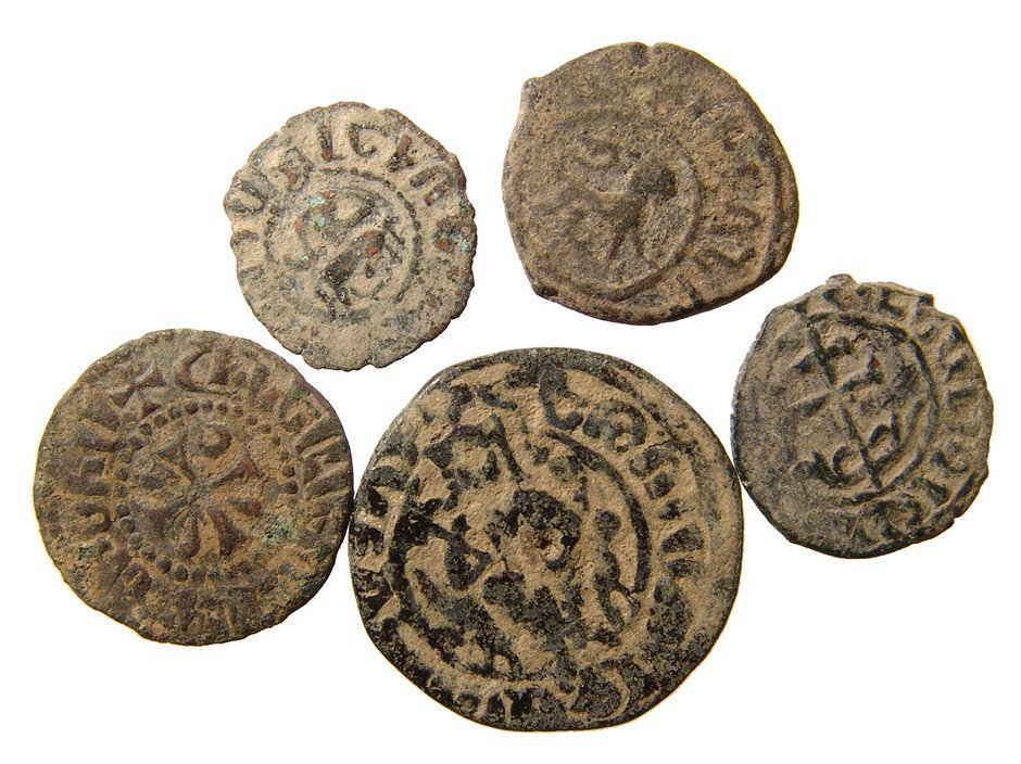 A group of 5 Medieval Armenian coins