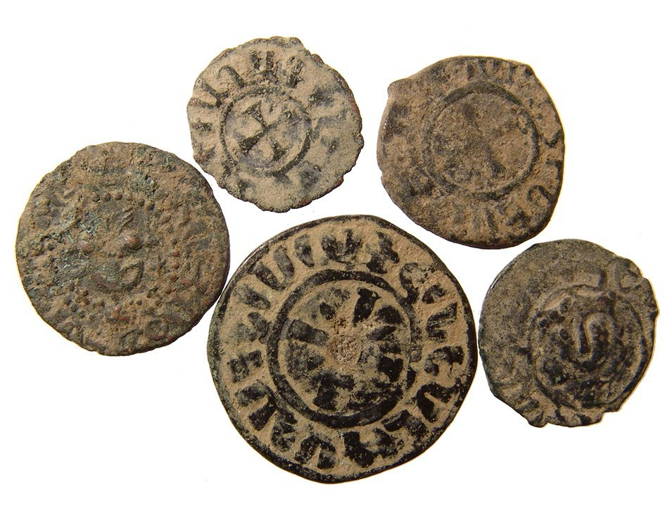 A group of 5 Medieval Armenian coins - 2