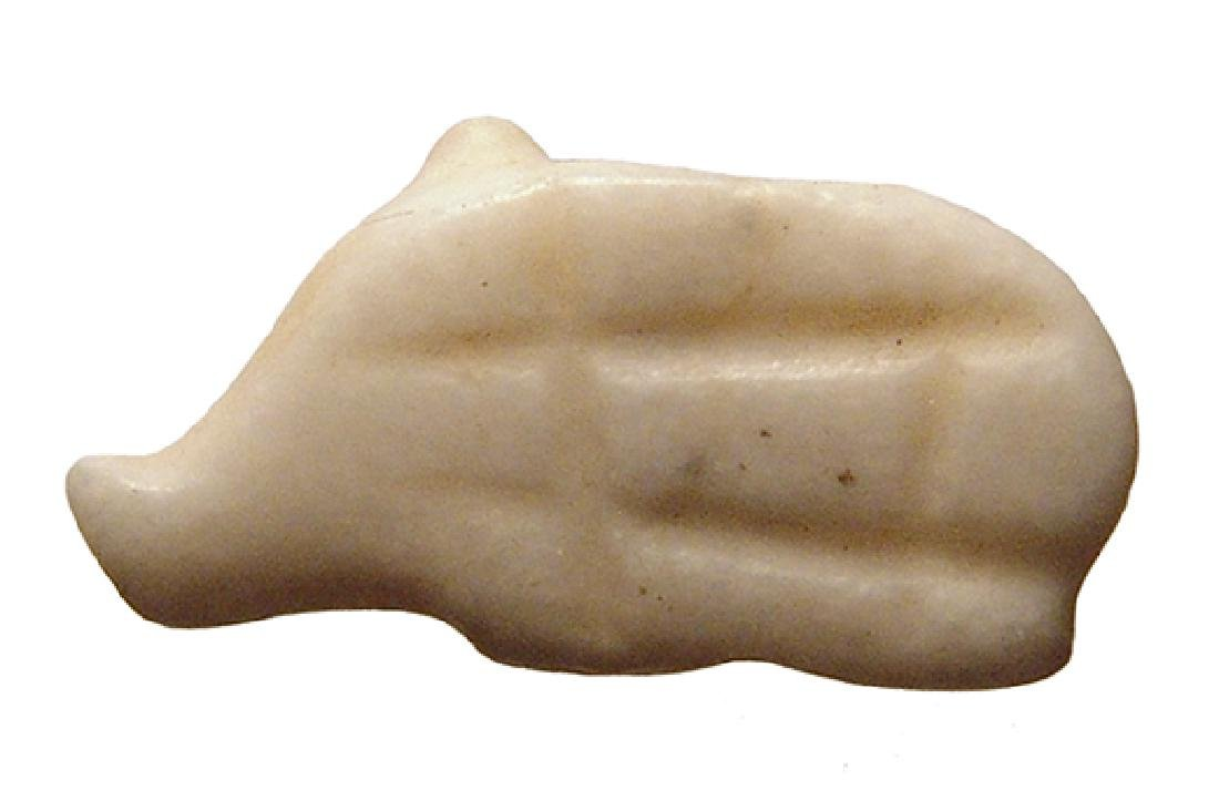 A Sumerian crème marble amulet of a pig - 2