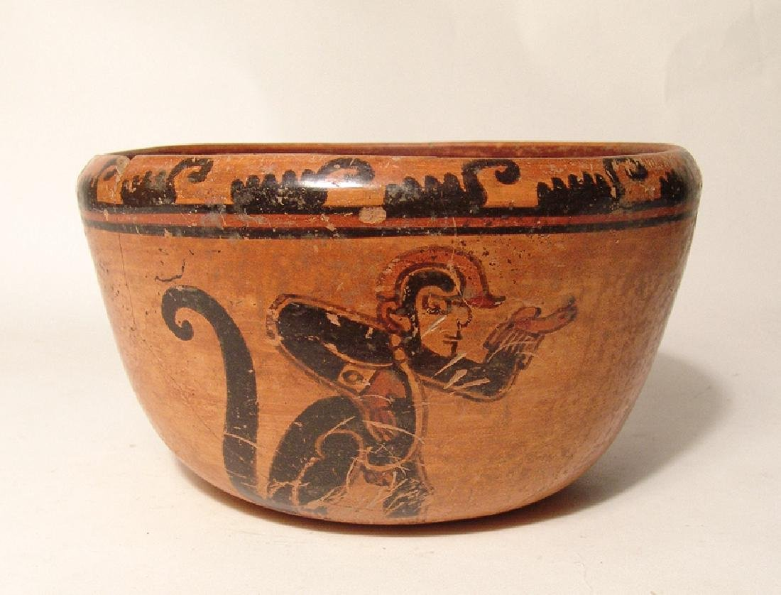 A beautiful Mayan polychrome bowl