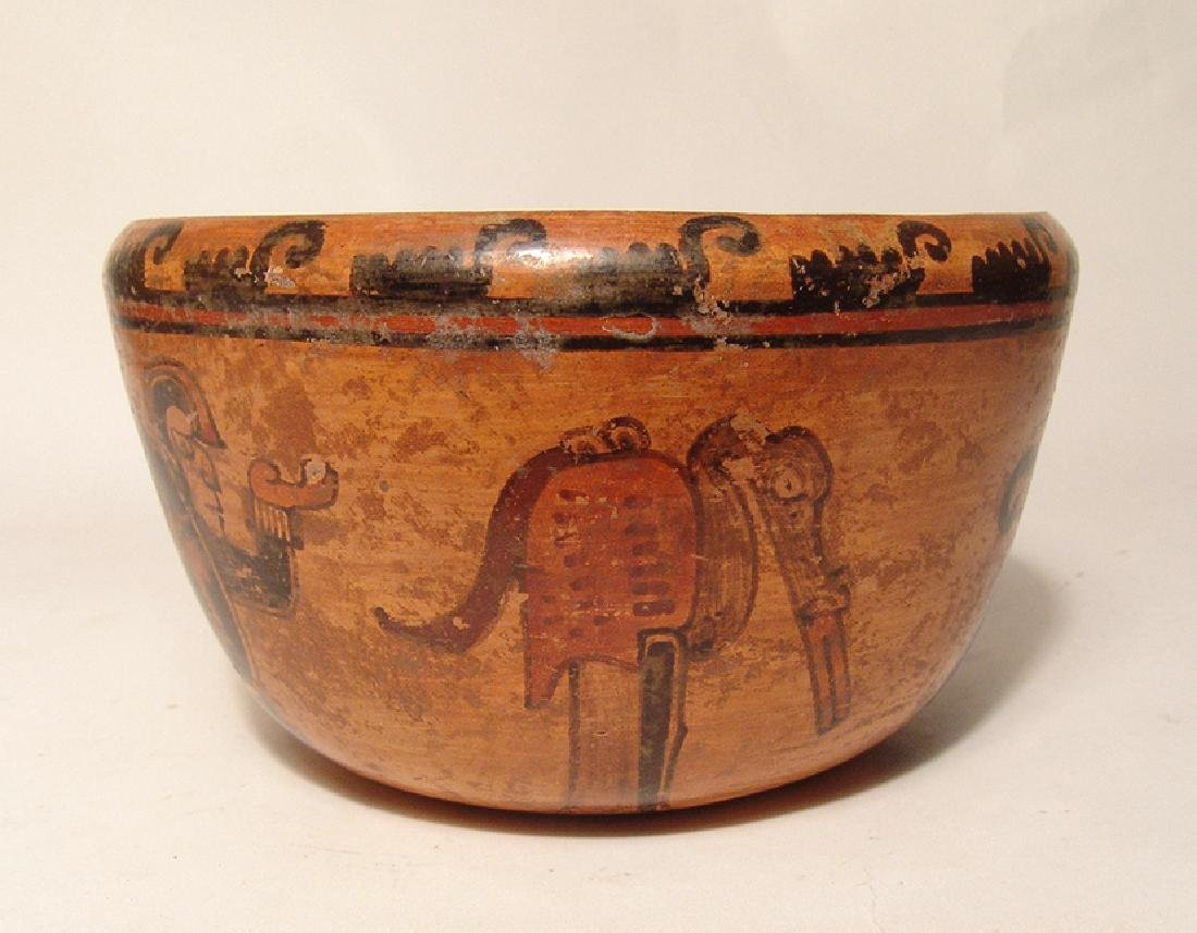 A beautiful Mayan polychrome bowl - 3