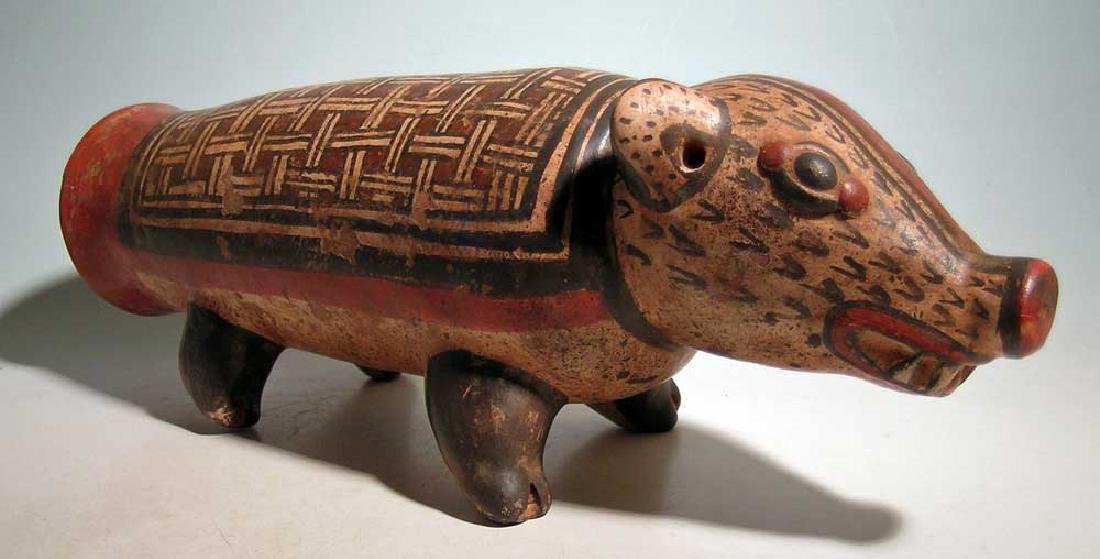Marvelous Nicoya zoomorphic effigy drum from Costa Rica